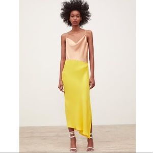Zara colorblock slip dress